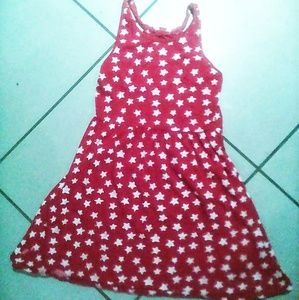 Red sundress. White stars.  4th of July!
